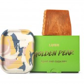 Golden Pear Soap & Dish Set